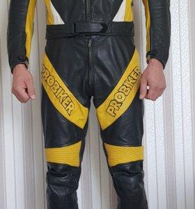 Мото комбинезон мужской кожаный