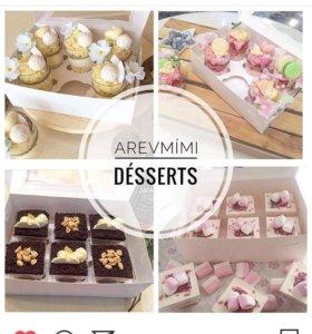 Десерты в стаканчиках