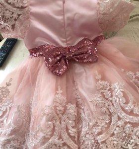 Платье с бантом на 5 лет
