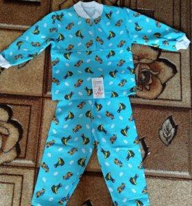 Пижамки детские на флисе, новые