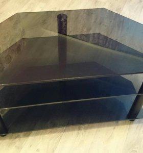 Тумба стеклянная под ТВ и аппаратуру