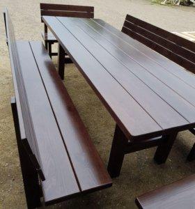 Стол с Лавочками комплект 2 метра