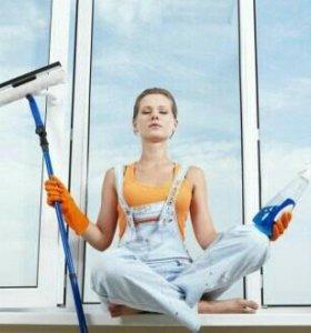 Мытье окон , уборка квартир.