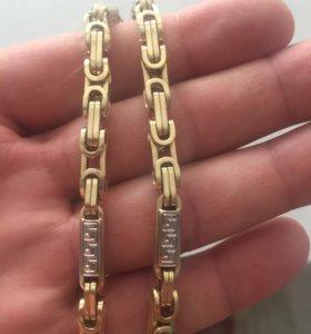 Цепь золотая и браслет
