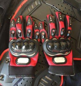 Мото перчатки размер м