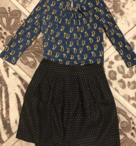 Блузка плюс юбка