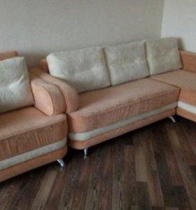 Угловой диван+кресло кровать
