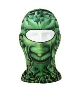 Мото подшлемник с рисунком зелёный человек