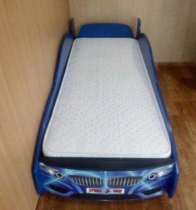 Кровать в виде тачки (человек паук)