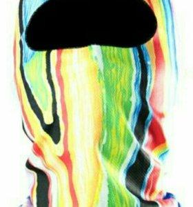 Мото подшлемник цветной ( радуга ) мотоподшлемник