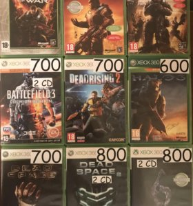 Диски лицензионные Xbox 360,