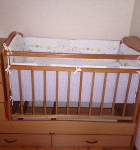 Кроватка трансформер с маитником
