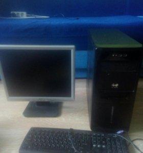 Продаю комплект: монитор, компьютер. Возможен торг