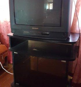 Телевизор SHARP + тумба 500р