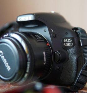 Canon 600d + canon 1.8f 50mm
