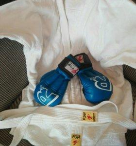 Кимано+ перчатки  размер 46-48,165-175 немного бу