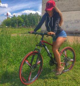 Велосипед на литых дисках red