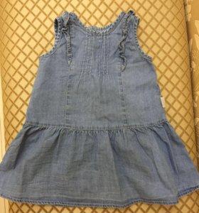 Джинсовое детское платье