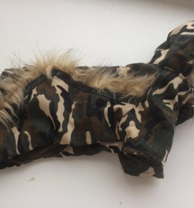 комбинезон для собаки 2,5-3кг камуфляж с капюшоном