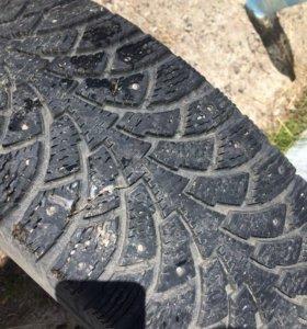 Зимние шины 195/65/r15 сточенные шипы