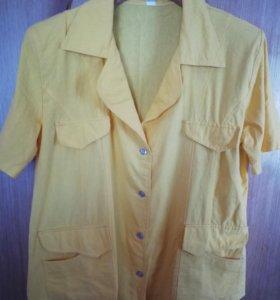 Пиджак ярко желтый