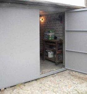 Металлические гаражные ворота.Доставка