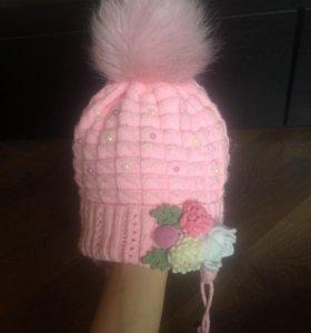 4 шапочки для девочки на 2-3года