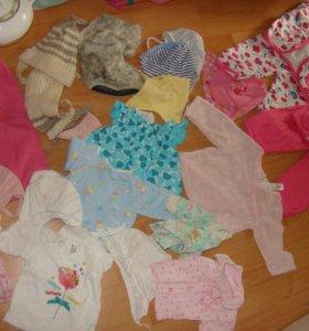 Пакет одежды на девочку 68-74