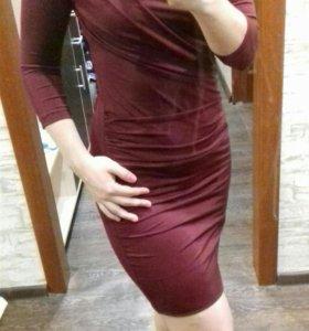 вечернее платье бардо
