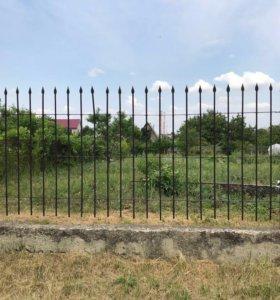 Металические секции для забора с воротами