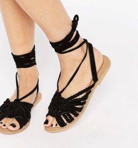 Новые кожаные сандалии ASOS босоножки женские