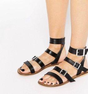 Новые кожаные сандалии ASOS женские