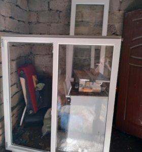 Пластиковое окно и балконный блок