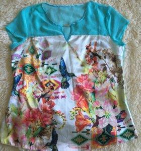 Летняя нарядная футболка блузка