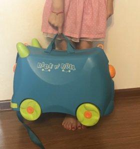 Чемодан детский на колесиках , RIDE n'ROLL