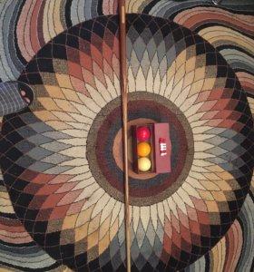 Бильярдные шары для карамболя,кий,треугольник