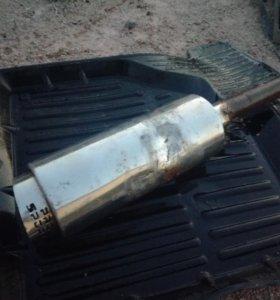 Прямоточный глушитель Bullet-2 .Зеркала про-спорт