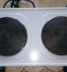 Плита электрическая настольная 2 конфорки