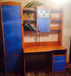 Компьютерный стол со шкафом б/у . Срочно