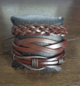 Кожаный браслет ручной работы