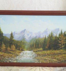 Картина репродукция горный пейзаж 108 *68
