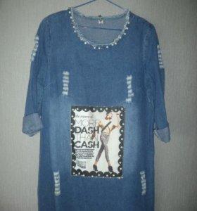 Джинсовое платье р44-48