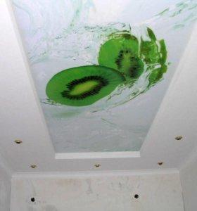 Натяжной потолок в коробе