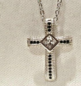 Подвеска крест цепь новая кулон колье