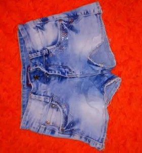 Детские шорты, светлые джинсовые
