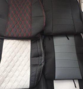 Автомобильные чехлы из ЭКО кожи и ткани