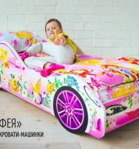 Розовая кроватка Фея