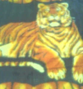 Ковер - покрывало новый рисунок тигр 2*1,4