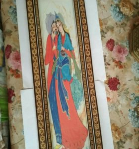 Картина любовь султана микромозаика Иран 19 век