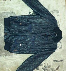 Куртка из экокожи для мальчика , размер 160